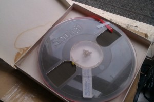 Audio Reel - tape is brown